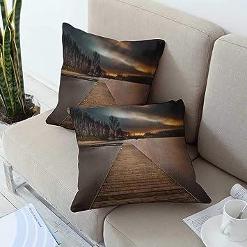 Amazon.com: Ediyuneth - Fundas de almohada para sofá (tamaño ...