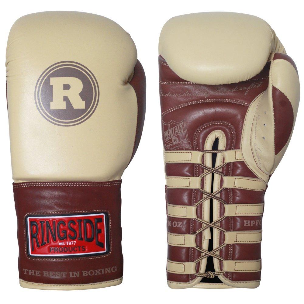Ringside Heritage Pro Fight Gloves B00D6LE8GW Cream 10 oz