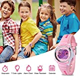 HIwatch Kids Watches Waterproof Toddler Watch Multi Coloured Lights Digital LED Children Wrist Watches Time Teacher Gift for Little Girls Boys