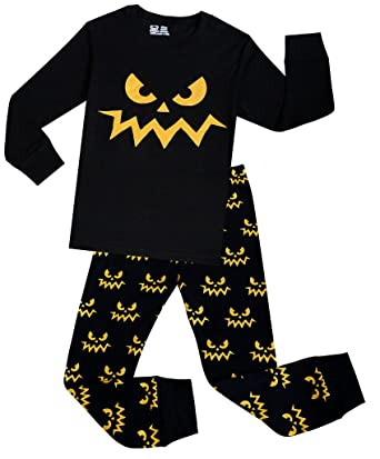 Little Boys Robot Pajamas Set Children Halloween PJs 100% Cotton Sleepwear Size 2 Years