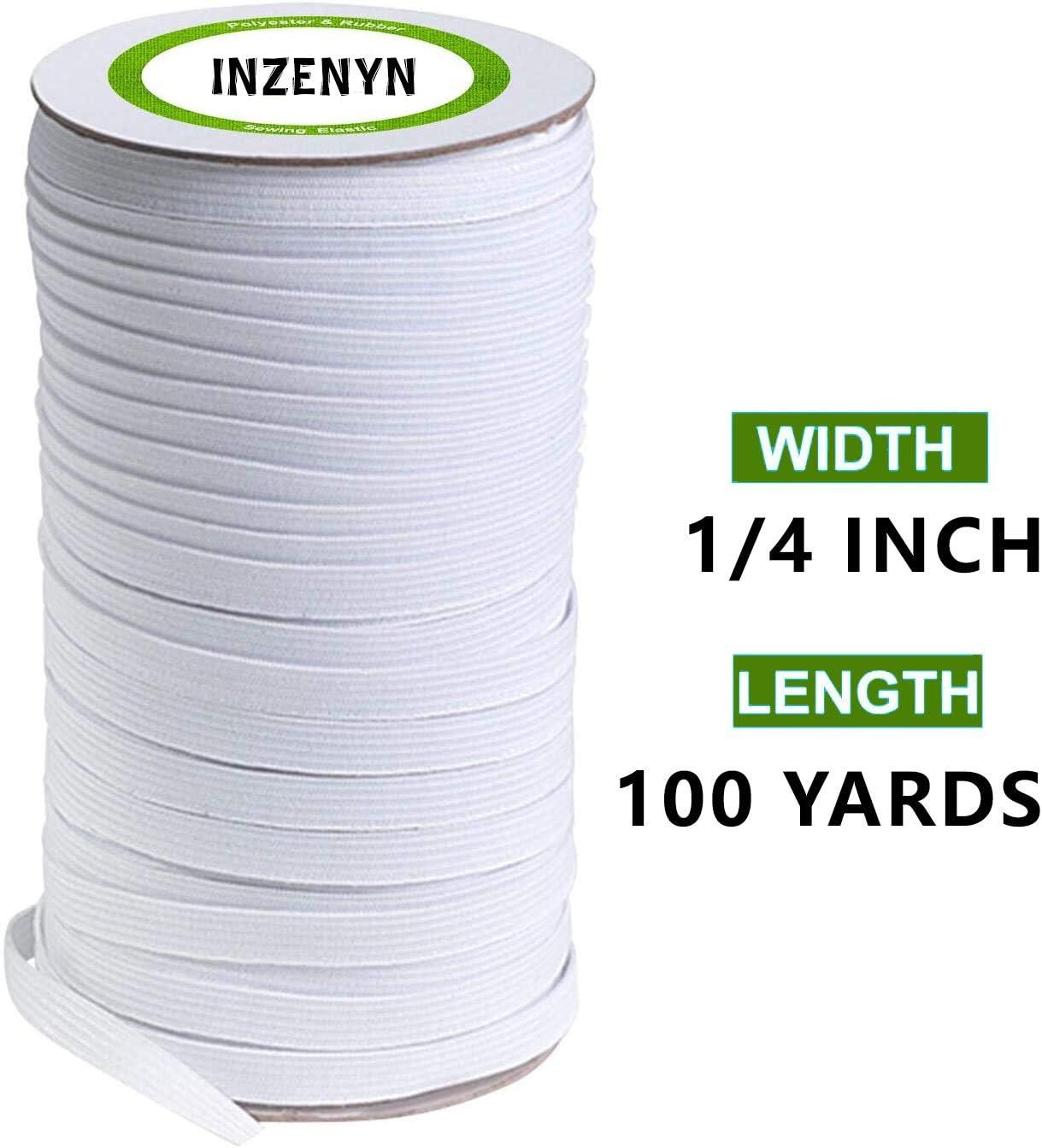 Elastic White 6mm x 100 metres