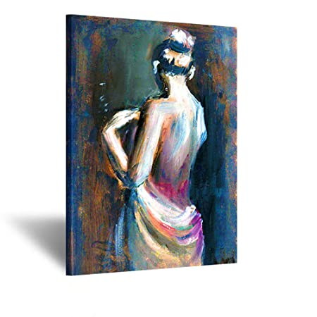 Kreative Arts Large Size Sexy Lady Angel Naked Oil Painting Printed on Canvas Wall Art Pictures Giclee Canvas Prints Stretched for Bedroom Decorations Ready to Hang 24x36inch