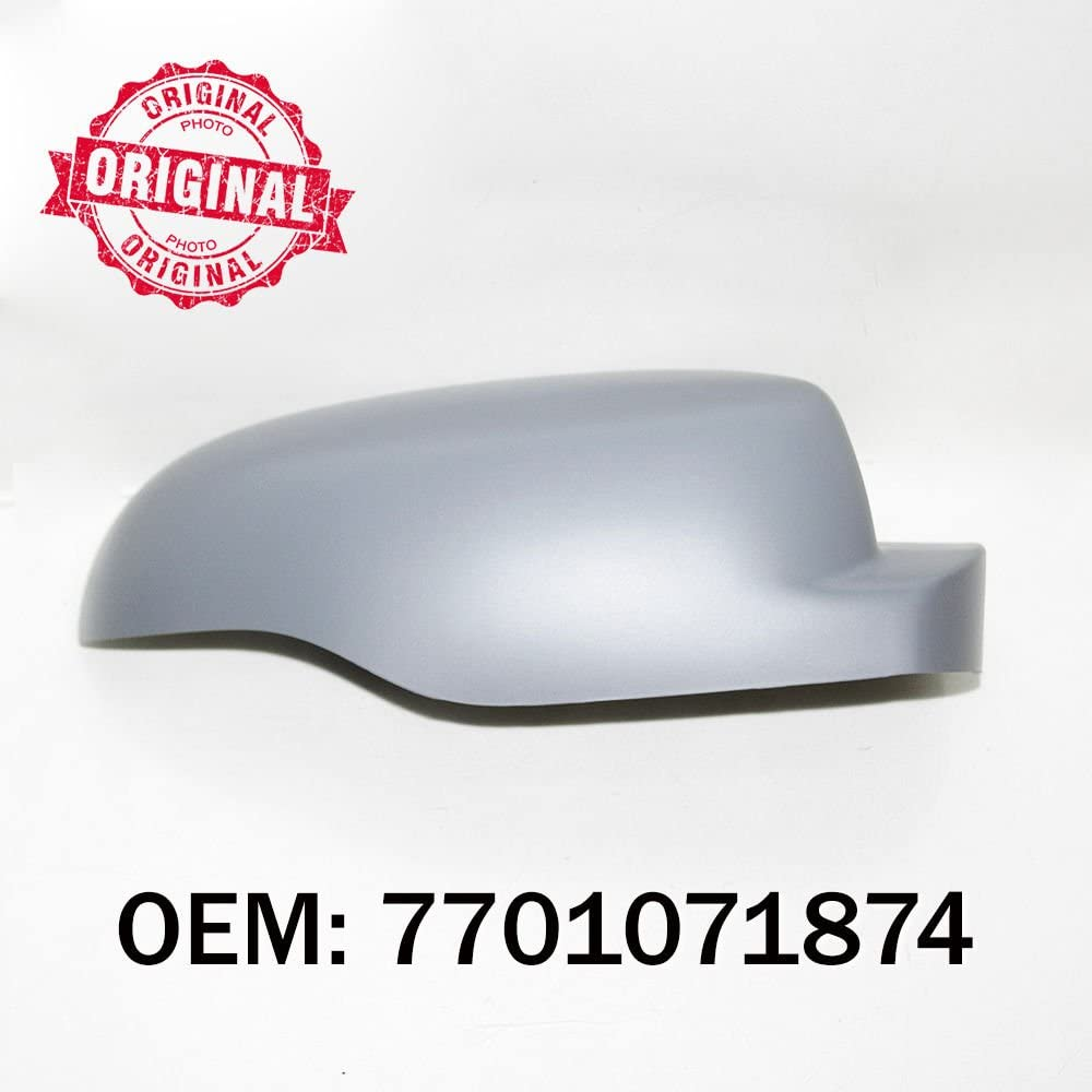 Right Side Wing Mirror Cover Cap Casing Primed Compatible With Clio 2009 Onwards OEM 7701071874