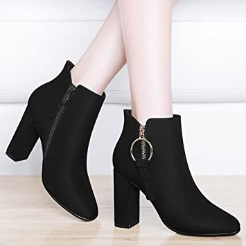 AIURBAG Mujer Zapatos Sintético Otoño Invierno Botas de Moda Botas hasta el Tobillo Botas Botines/Hasta el Tobillo Para Vestido Fiesta y Noche: Amazon.es: ...