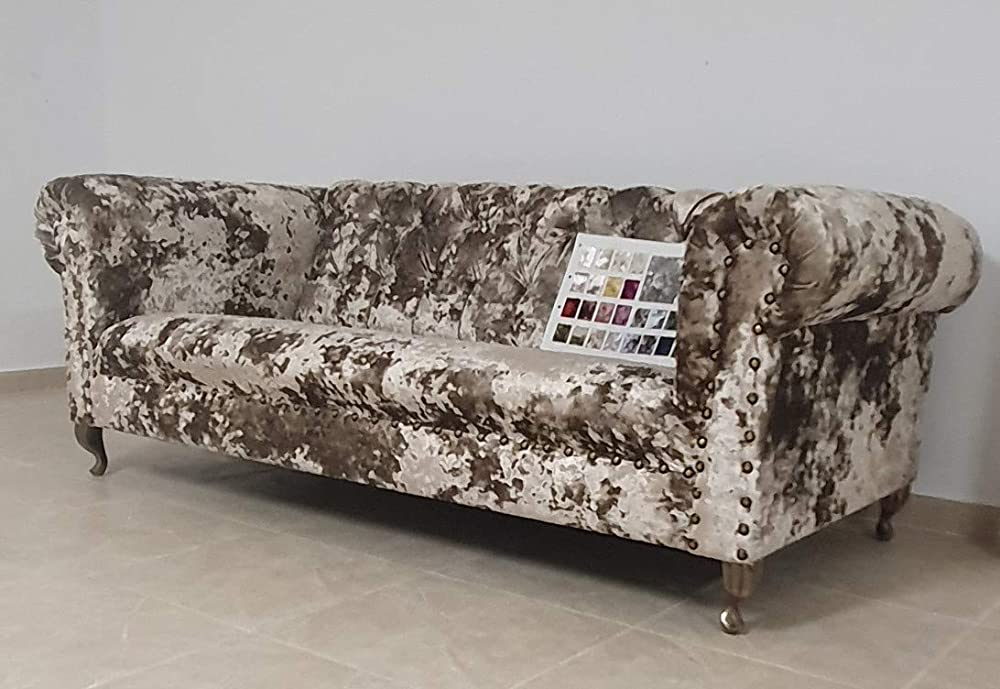 Exclusive Bronze 3 Seat Chesterfield sofa. Made in England ...
