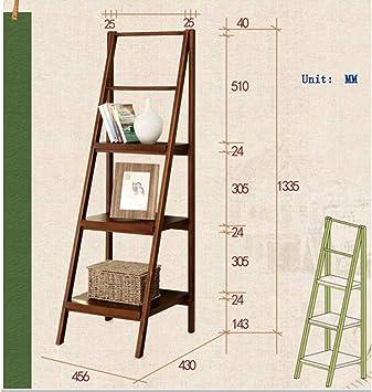MTG Estante, escalera de madera maciza, estante para almacenamiento de baño, soporte para flores, estantería para dormitorios (tres colores opcionales) Estante Ahorro de espacio y fácil de instalar,m: Amazon.es: Bricolaje y herramientas
