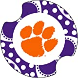 Thirstystone Clemson University Dots Car Cup Holder Coaster, 2-Pack