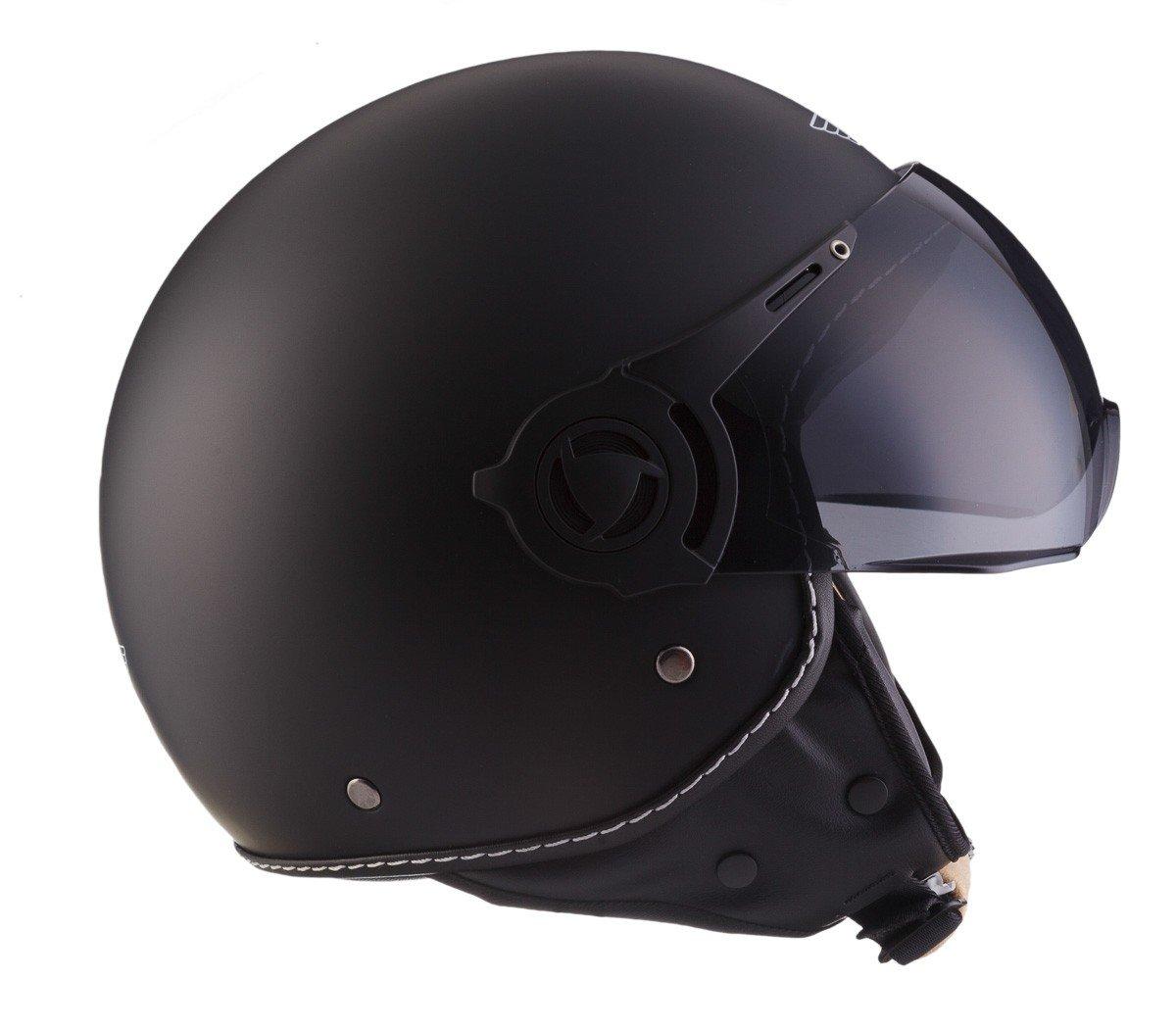 Moto Helmets H44/Biker Motorcycle Helmet Vintage moped scooter Helmet Chopper Cruiser Pilot Jet Vespa Bobber Scooter Helmet Helmet Helmet Retro ECE Certified with Fabric Bag Bronze