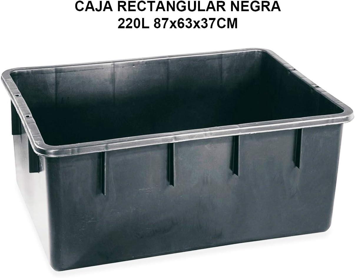 PLASTICOS HELGUEFER-CUBETA RECTANGULAR NEGRA 220L