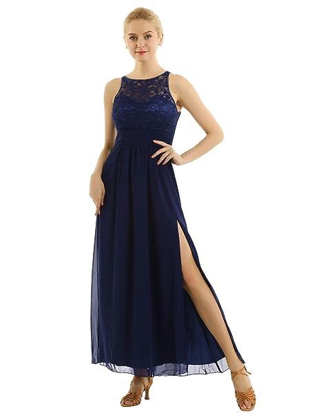 inlzdz Vestido de Dama de Honor Mujer Vestido Largo de ...