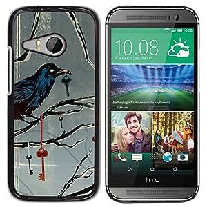 TopCaseStore / la caja del caucho duro de la cubierta de protección de la piel - Key Metaphor Deep Gray Grey - HTC ONE MINI 2 / M8 MINI