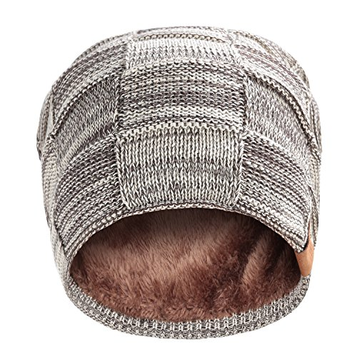 Beanie Hat for Men and Women Winter Warm Hats Knit Slouchy Thick Skull Cap by REDESS