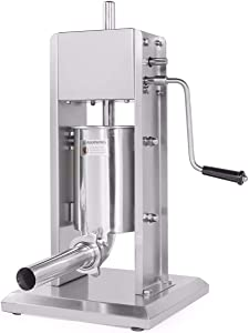 XtremepowerUS Sausage Vertical Stuffer, Stainless Steel (8 Pounds)