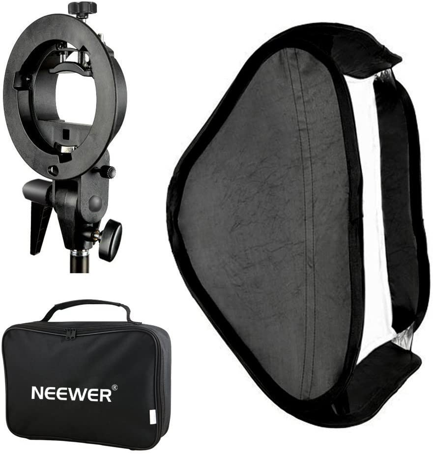 Neewer Photo Studio Multifunctional 24x24 inches//60x60 centimeters Softbox with S-type Speedlite Flash Bracket Mount and Carrying Case for Portrait or Product Photography