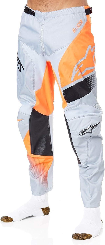 Alpinestars Pantalon Mx 2019 Racer Supermatic Gris Orange Noir 38 Taille = Fr 46, Gris