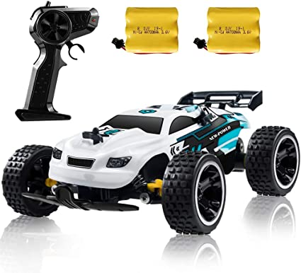Amazon Com Rc Racing Car 2 4ghz High Speed Remote Control Car 1 18 2wd Toy Cars Buggy For Boys Girls With Two Rechargeable Batteries For Car Gift For Kids White Toys Games