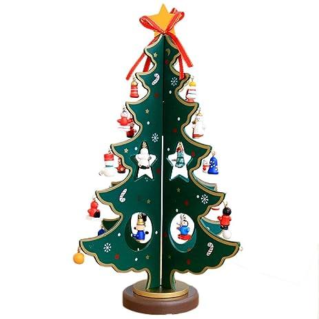 egoelife mini wooden christmas tree tabletop or desktop diy christmas tree home christmas decorations ornaments