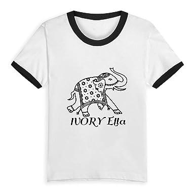 f462a48e8898ef Amazon.com  Ivory Ella Purple Unisex Children s Short Sleeve T-Shirt ...