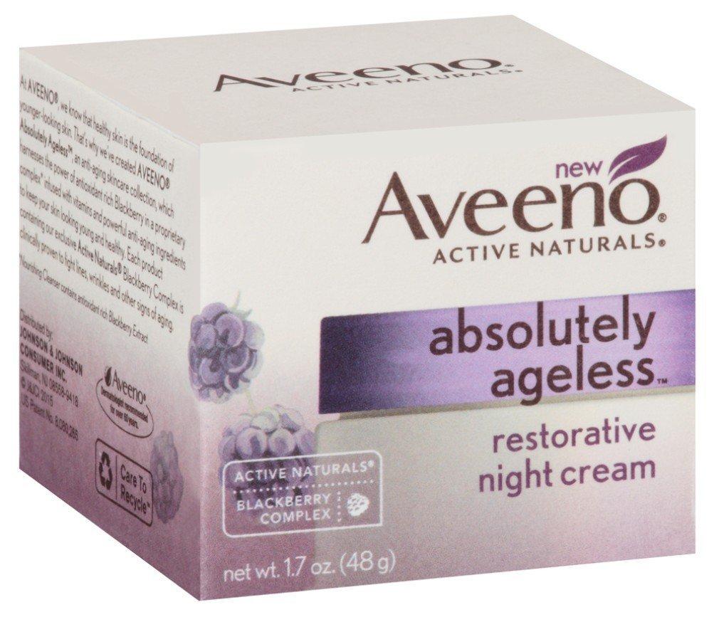 Aveeno Absolutely Ageless Night Cream 1.7 Ounce (50ml) (3 Pack)
