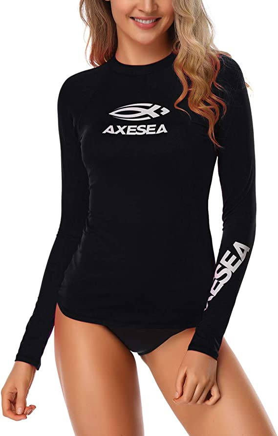 Rash Guard Two Piece Swimsuits Surfing Set Haimao Womens Long-Sleeve Rashguard UPF 50