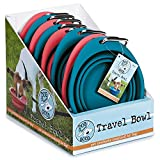 """Dog Is Good DI1049 08 26""""Never Travel Alone"""" Bowl for Dogs (8 Pack), Assorted Colors"""