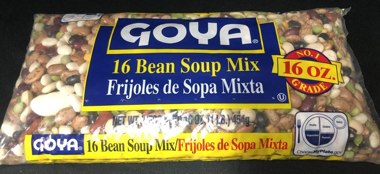 Goya 16 Bean Soup Mix 16 Oz. Pack Of 3.