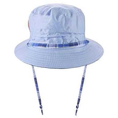 BAO CORE Children Kids Lovely Bucket Style Sun Hats with Chin Strap Cotton  Canvas Reversible Breathable Summer Beach Hats Caps Sun UV Protection Boys  Girls ... 71457731cec7
