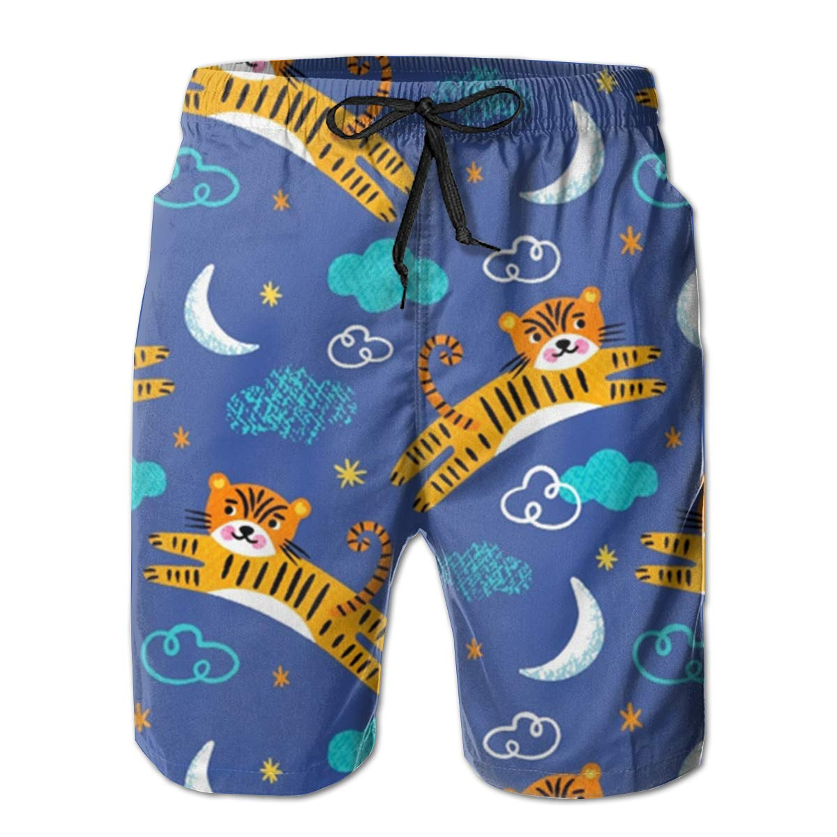 EYFlife Gingerbread Man Cookie Pattern Men/â/€s Beach Board Shorts Quick Dry Swim Truck Shorts