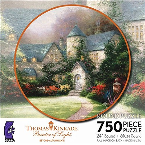 Beyond Autumn Gate (Thomas Kinkade Painter of Light, Beyond Autumn Gate Round Puzzle)