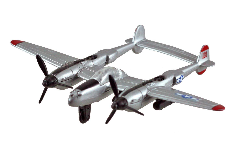 """InAir Diecast 3.5"""" P 38 Lightning Silver"""