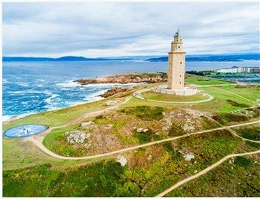 HCYEFG Puzzle 1000 Piezas Torre De Hércules O Torre De Hércules Es Un Antiguo Faro Romano En A Coruña En Galicia España para Niños Adultos Juguetes Regalo Rompecabezas: Amazon.es: Hogar