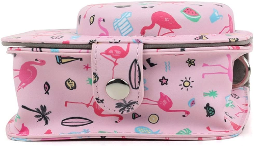 with Adjustable Strap 8+ Uniuni Flamingo Shoulder Carrying Protective Case for Fujifilm Instax Mini 8 9 Instant Camera Watermelon