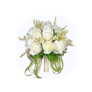 Amazon.com: Seller-Wu - Ramo de rosas para novia, color ...