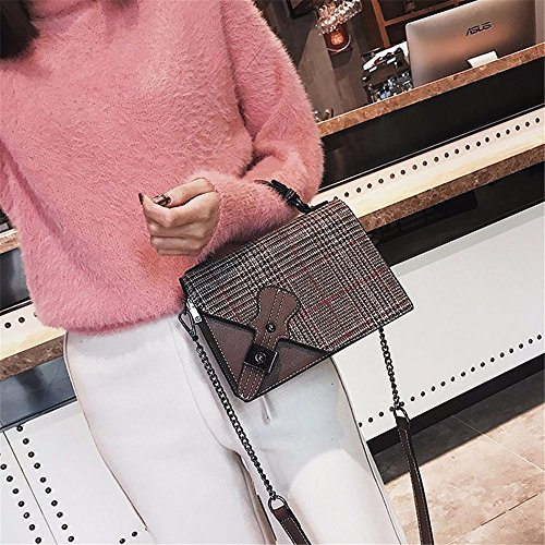 Shoulder Color Messenger Hit Simple Bag Bag Lock Leisure Black Square Retro Pu 8qOOtEYB