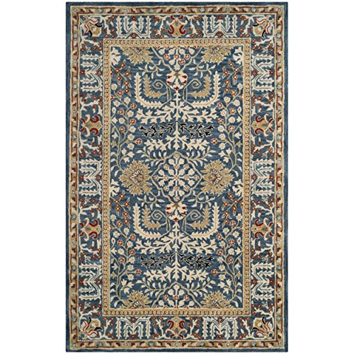 (Safavieh Antiquities Collection AT64B Handmade Traditional Dark Blue and Multi Area Rug (8' x 10'))