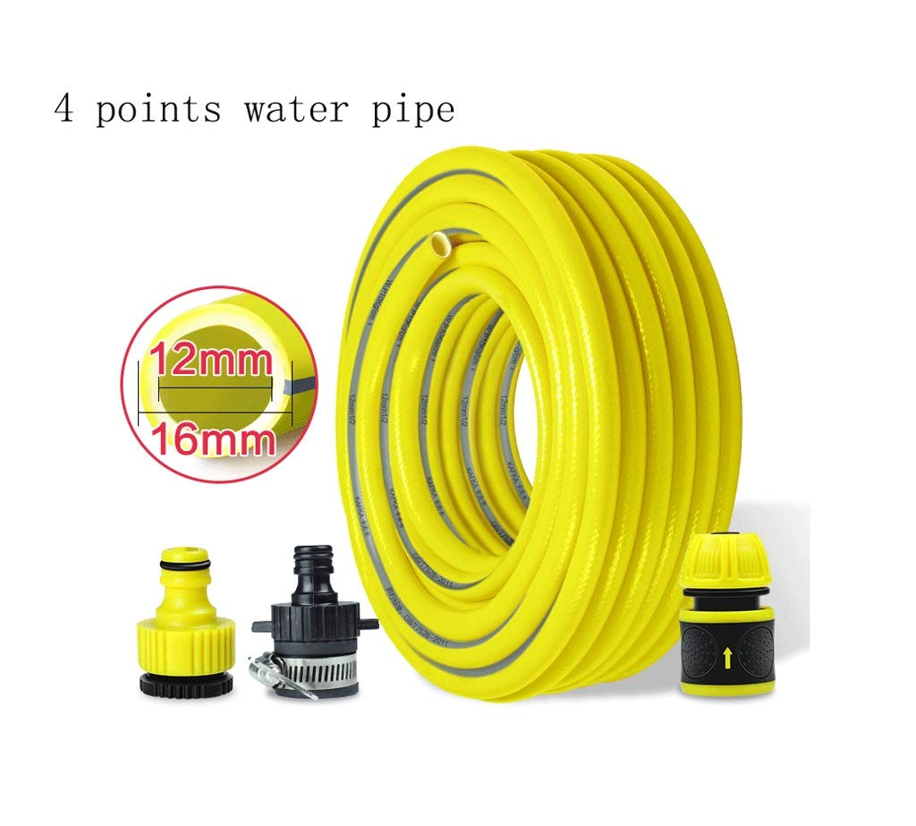 Multi-function tube Garden Hose, Household Water Pipe, Antifreeze, Cold And Wear Resistant, Car Wash Explosion-proof Pvc Rubber Plastic Pipe Flushing the car (Design : 4 points, Size : 100m)