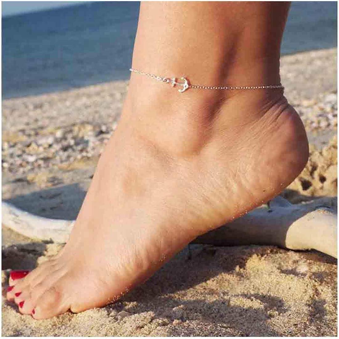 Olbye Silver Anchor Anklet...