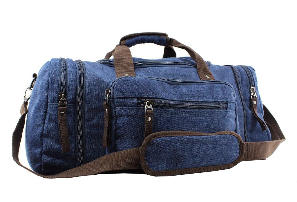 Jiao Miao Oversized Handbag Canvas Travel Tote Luggage Weekender Duffel Bag,170804-03