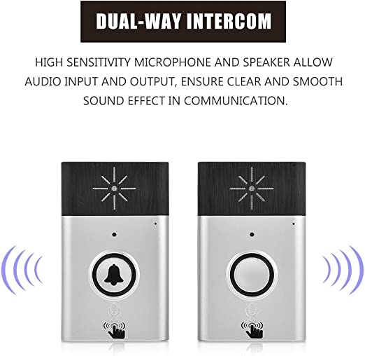 Two Way Voice Intercom 2.4G WIFI Wireless Doorbell Interphone Security System