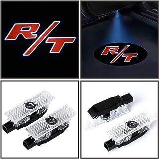 2x Red R/T Logo LED car Door Courtesy Projector logo Light For Dodge Challenger 2008-2019,long lifetime film slides,100% plug and play installation