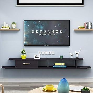 Los estantes flotantes Madera maciza, de montaje en pared estante flotante, organizador de cables for el sistema concentrador de TV de escritorio USB del ordenador, componentes de televisión, montaje: Amazon.es: Electrónica