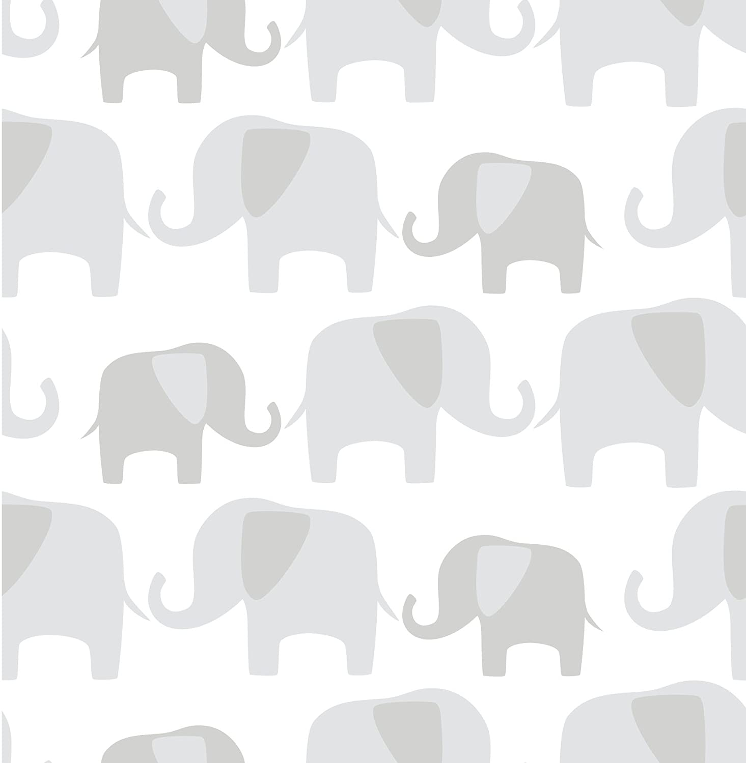 Amazoncom Wall Pops NU1405 Gray Elephant Parade Peel and Stick