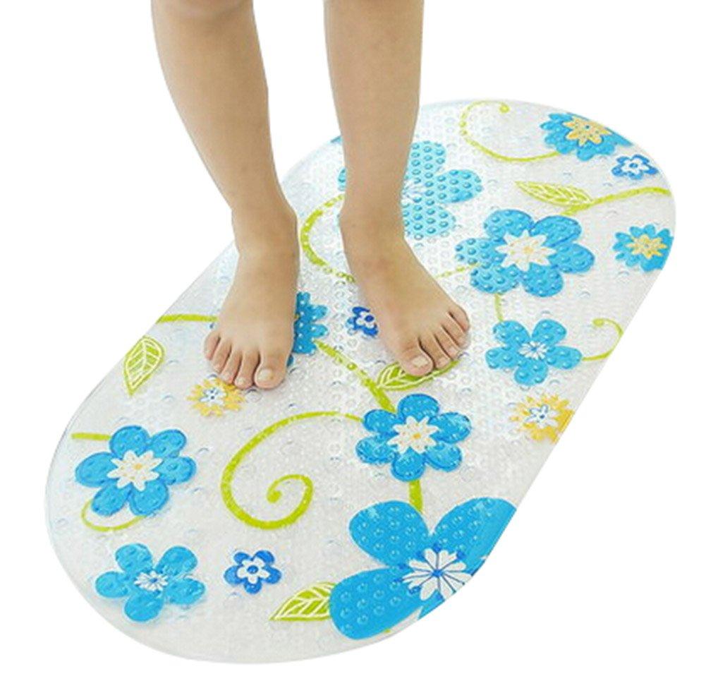 Durable Bath Anti Slip Mats Shower Mat Toilet Mat Massage Mats, 15.2'' 28''