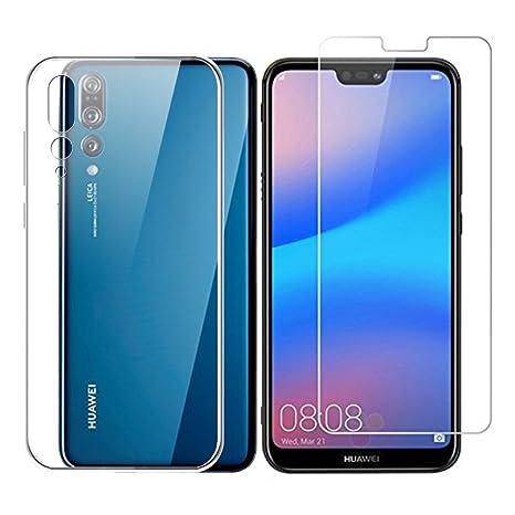 DYSu Funda para Huawei P20 Pro Clear Transparente Película ...