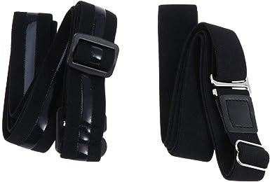 SUPVOX 2 unids Ajustable Sujetador Unisexo Camisa Liga para Camisa Antideslizante Cinturón de Camisa (Negro): Amazon.es: Ropa y accesorios