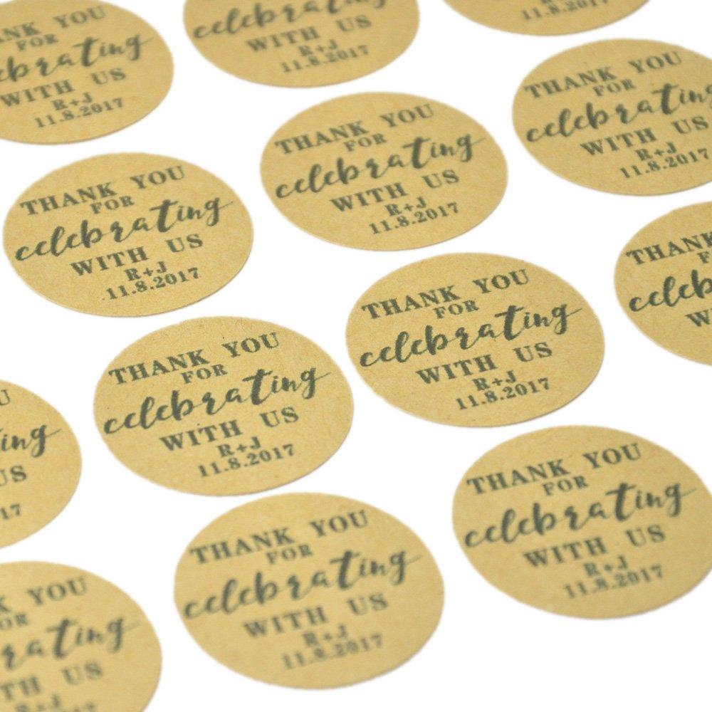 Custom Natural Kraft Paper ,(50)Wedding Favor Tag ,Wedding Kraft Tags, Personalized Sticker Envelope Seals, Customized Envelope Labels CLS wedding