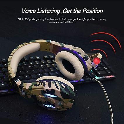 ENVEL Auriculares con Micrófono para PS4 Auriculare Gaming [ Micrófono Ajustable ] Estéreo y Control de Volumen y Diadema Cerrados con PS4 Xbox One PC