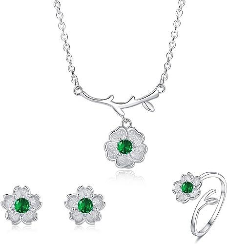 S925 Sterling Silver CZ Crystal Flower Bracelet For Women Jewellery Xmas Gift