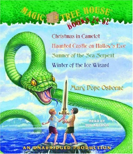Magic Tree House #29 - #32 : Summer of the Sea Serpent, Christmas in Camelot, Haunted Castle on Hallows Eve, Winter of the Ice Wizard - Book  of the Magic Tree House