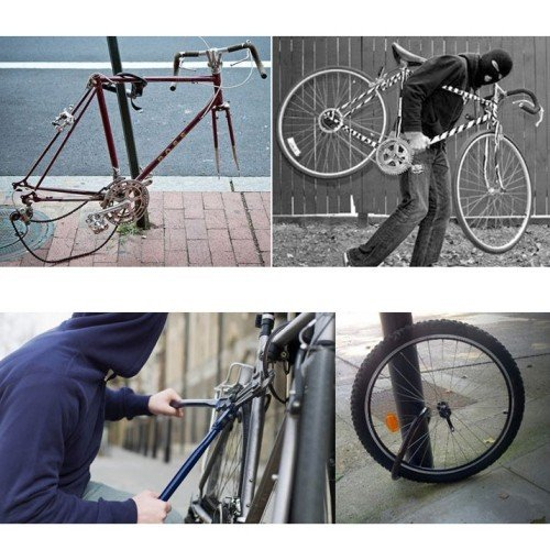Hidden bike tracker with thief